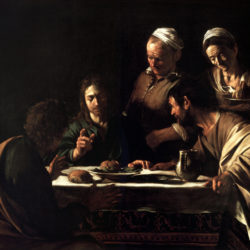 Supper at Emmaus by Caravaggio, Pinacoteca di Brera, Milan